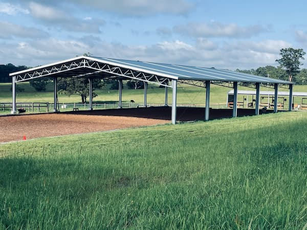 Horse arena shed